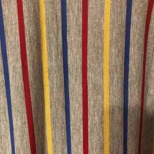 LuLaRoe L Carly with Primary Color Stripes NWOT